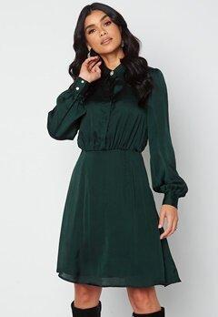 VILA Cajsa L/S Shirt Dress Darkest Spruce bubbleroom.se