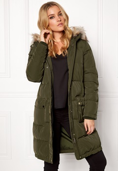 VILA California Down Coat Ivy Green Bubbleroom.fi