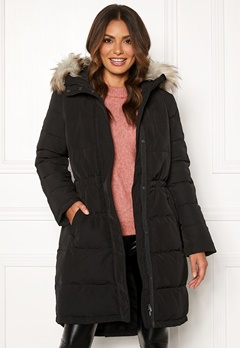 VILA California New Down Coat Black Bubbleroom.se