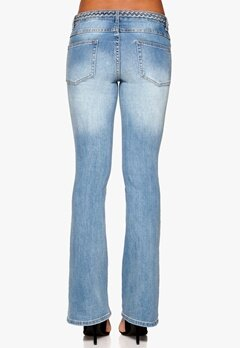 VILA Calm Braid Jeans Light Blue Denim Bubbleroom.fi