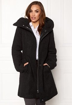 VILA Cama New Wool Coat Black Bubbleroom.fi