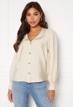 VILA Cameli L/S Shirt Birch Bubbleroom.se
