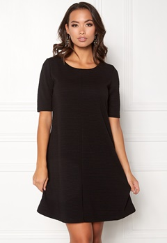 VILA Caro A-Shape Jersey Dress Black Bubbleroom.fi