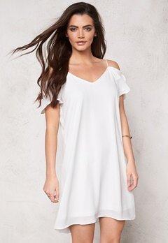VILA Castas S/S Dress Snow White Bubbleroom.dk