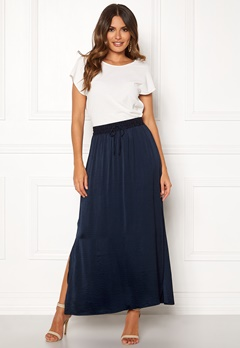 VILA Cava Maxi Skirt Total Eclipse Bubbleroom.se