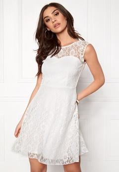 VILA Cayla s/l Dress Snow White Bubbleroom.fi
