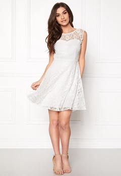 VILA Cayla s/l Dress Snow White Bubbleroom.se