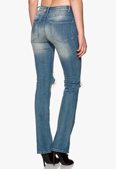 VILA Chill 5p Skinny Bootcut Medium Blue Denim Bubbleroom.no