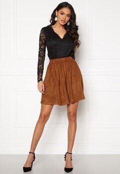 VILA Choose HW Skirt Caramel Café Bubbleroom.se