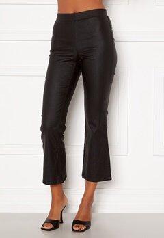 VILA Commit Coated HWSL Cropped Pants Black Bubbleroom.se