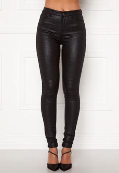 VILA Commit Glitter Coat Jeans Black Bubbleroom.se