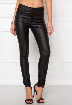 VILA Commit New Coated Jeans Black Bubbleroom.se