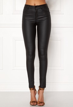 VILA Commit New Coated Jeans Black Bubbleroom.fi