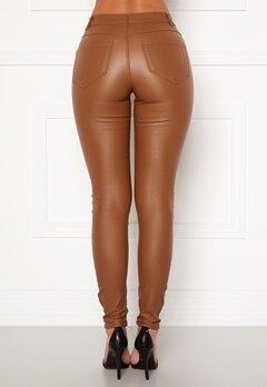 VILA Commit New Coated Jeans Rawhide Bubbleroom.se
