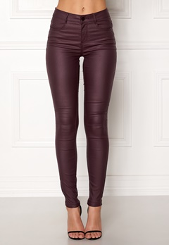 VILA Commit New Coated Jeans Winetasting Bubbleroom.se