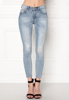 VILA Commit RW Pushup Jeans Medium Blue Denim Bubbleroom.se