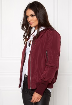 VILA Concrete new jacket Tawny port Bubbleroom.no