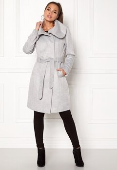 VILA Dahlia Wool Coat Light Grey Melange Bubbleroom.fi