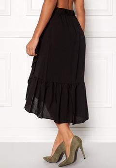 VILA Dama Flounce Midi Skirt Black Bubbleroom.fi