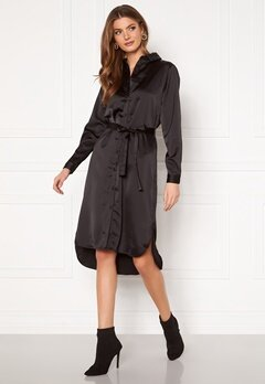VILA Daye L/S Shirt Dress Black Bubbleroom.se