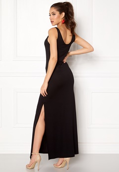 VILA Deana S/L Maxi Dress Black Bubbleroom.se