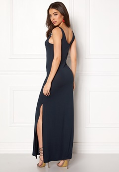 VILA Deana S/L Maxi Dress Total Eclipse Bubbleroom.se