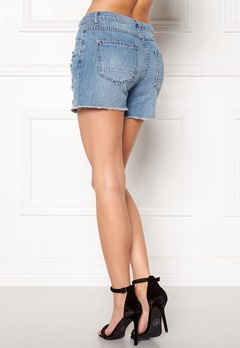 VILA Ditty Denim Shorts Medium Blue Denim Bubbleroom.se
