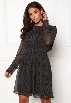 VILA Dotly L/S Dress Black Bubbleroom.eu