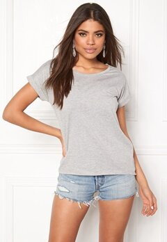 VILA Dreamers Pure T-shirt Light Grey Melange Bubbleroom.fi