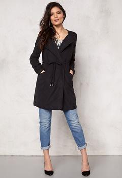VILA Emmely Chic Coat Black Bubbleroom.se