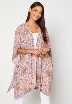 VILA Esa S/S Loose Sleeve Kimono Ecru AOP Bubbleroom.se