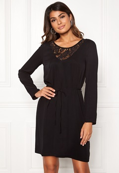 VILA Everly L/S Dress Black Bubbleroom.se