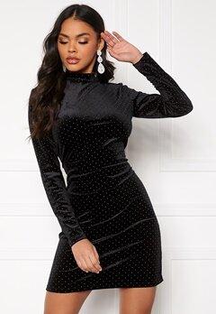VILA Farica L/S Dress Black Bubbleroom.se