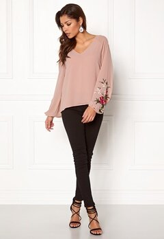 VILA Felica L/S Top Adobe Rose Bubbleroom.fi