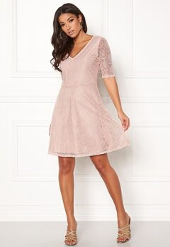 VILA Frej 2/4 Short Dress Peach Blush Bubbleroom.se