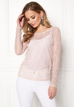 VILA Frej L/S T-shirt Peach Blush Bubbleroom.eu