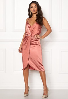 VILA Fsateny Midi Dress Dusty Cedar Bubbleroom.se