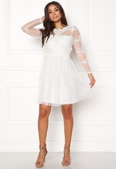 VILA Georgious L/S Dress Cloud Dancer Bubbleroom.se