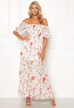 VILA Glinda S/S Maxi Dress Pristine AOP Bubbleroom.se