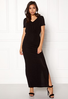 VILA Glitsay Dress Black Bubbleroom.no