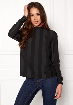 VILA Heide L/S Top Black Bubbleroom.se
