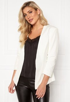 VILA Her 3/4 New Blazer Snow White Bubbleroom.se