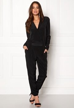 VILA Holly L/S 7/8 Jumpsuit Black Bubbleroom.no
