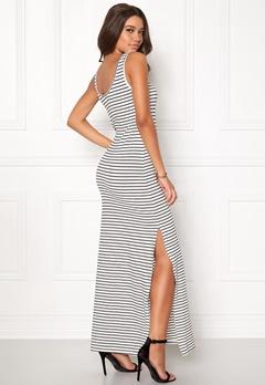 VILA Honesty New Maxi Dress Snow White Stripe Bubbleroom.no