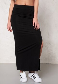 VILA Honesty New Maxi Skirt Black Bubbleroom.se