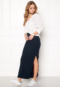 VILA Honesty New Maxi Skirt Total Eclipse Bubbleroom.se
