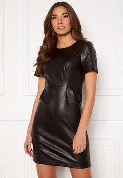 VILA Jaffi Coated S/S Dress Black Bubbleroom.se