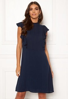 VILA Juliana S/L Dress Navy Blazer Bubbleroom.se
