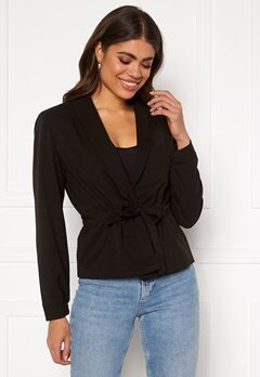 VILA Julianas L/S Belt Blazer Black Bubbleroom.se