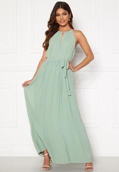 VILA Katelyn Halterneck Dress Jadeite Bubbleroom.se